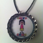 Geeky Chick Necklace - White