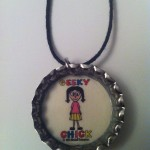 Geeky Chick Necklace - Retro Tone