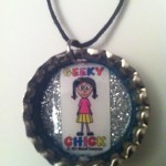 Geeky Chick Necklace - Silver Sparkle